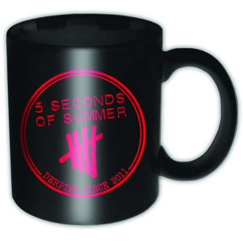 5 Seconds of Summer Boxed Mug Derping Stamp Sparkle Gift