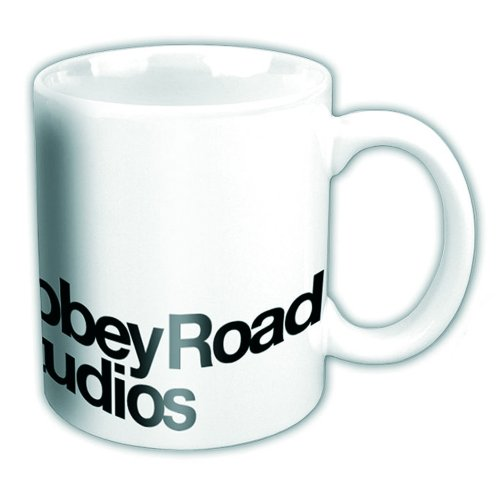 Abbey Road Studios Boxed Mug Black Logo On White Sparkle Gift