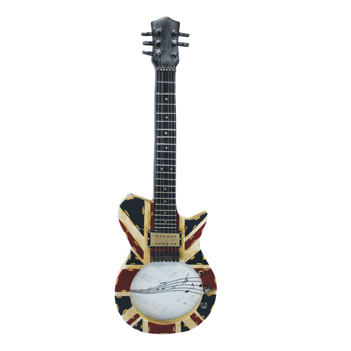 Guitar Photo Frame Union Jack Guitar Shaped Sparkle Gift