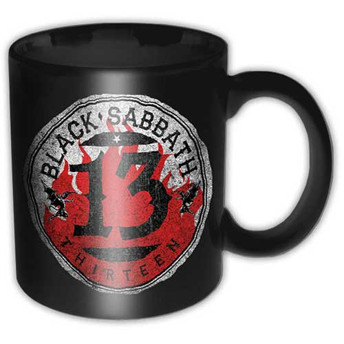 Black Sabbath Boxed Mug 13 Flame Circle Sparkle Gift