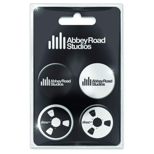 Abbey Road Studios Badge Pack Set of 4 Sparkle Gift