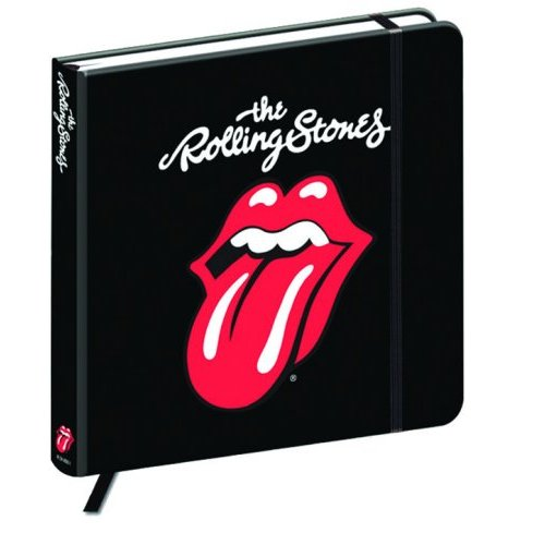 Rolling Stones Square Notebook Classic Tongue                Sparkle Gift