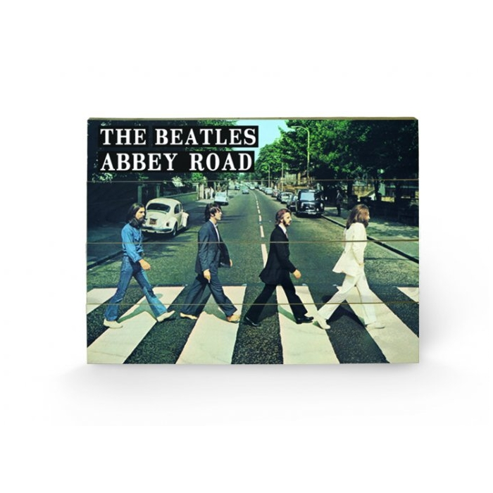 Beatles Wooden Wall Art Abbey Road                           Sparkle Gift