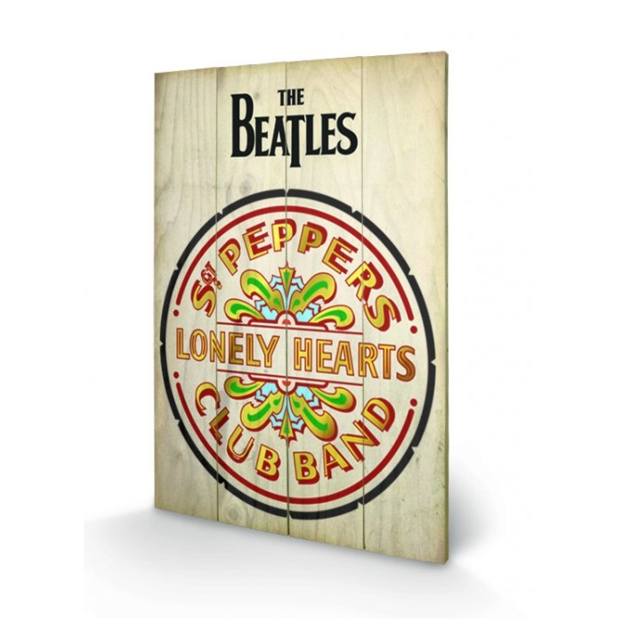 Beatles Wooden Wall Art Sgt Pepper                           Sparkle Gift
