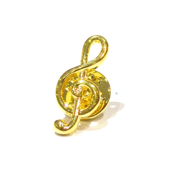 Pin Badge Treble Clef Gold Plated Sparkle Gift