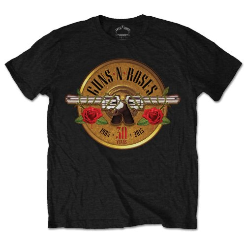 Guns N Roses T Shirt 30th Photo Mens Large Sparkle Gift