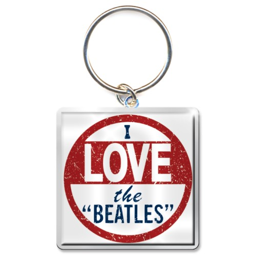 Beatles Keychain I Love The Beatles Sparkle Gift