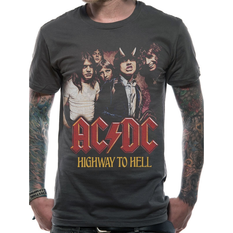 AC/DC  T Shirt Highway To Hell Mens Medium Sparkle Gift