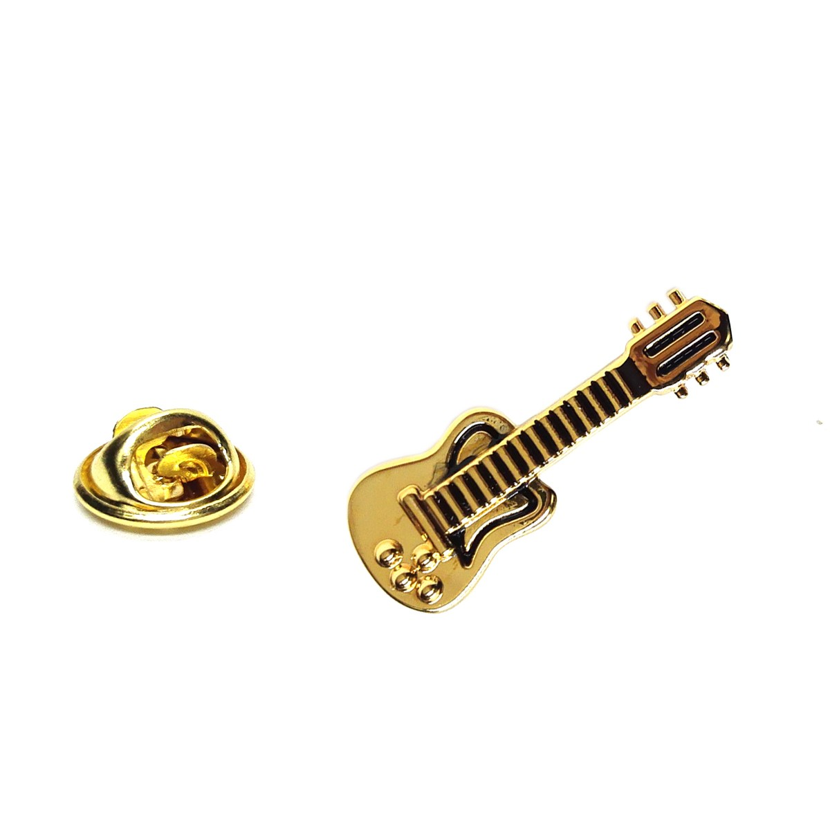 Pin Badge Electric Guitar Gold Sparkle Gift