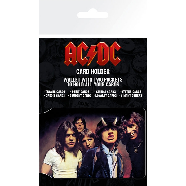 AC/DC  Card Holder Band Sparkle Gift