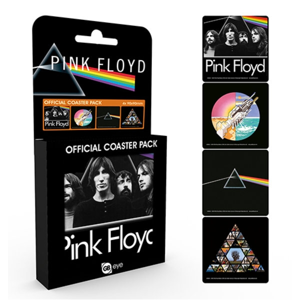 Pink Floyd Coaster Pack Set of 4 Sparkle Gift