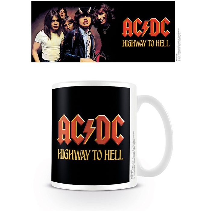AC/DC  Boxed Mug Highway To Hell Sparkle Gift