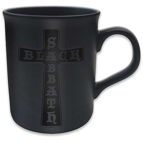 Black Sabbath Boxed Mug Matte Black Cross Sparkle Gift