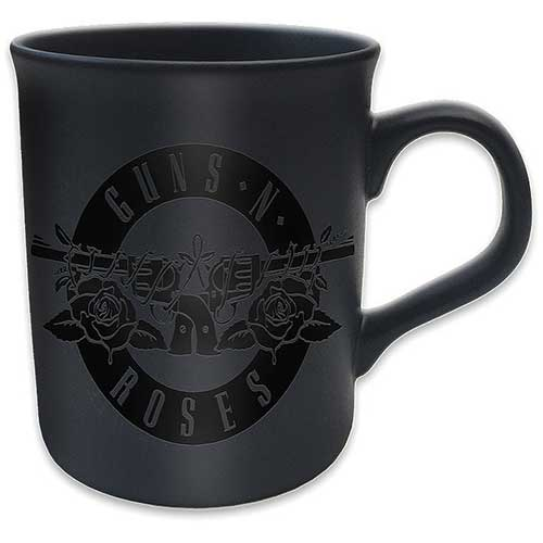 Guns N Roses Boxed Mug Matte Black Circle Logo Sparkle Gift