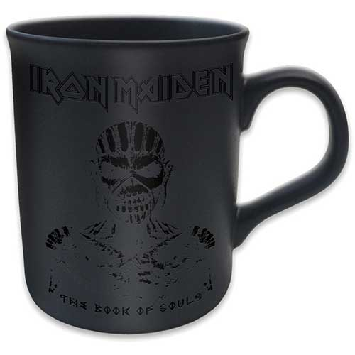Iron Maiden Boxed Mug Matte Black Book of Souls Sparkle Gift