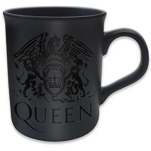 Queen Boxed Mug Matte Black Crest                            Sparkle Gift