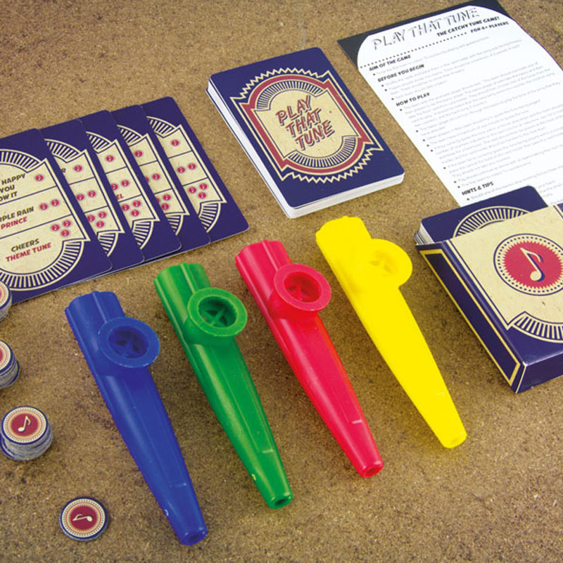 Play That Tune Card Game With Kazoos Sparkle Gift