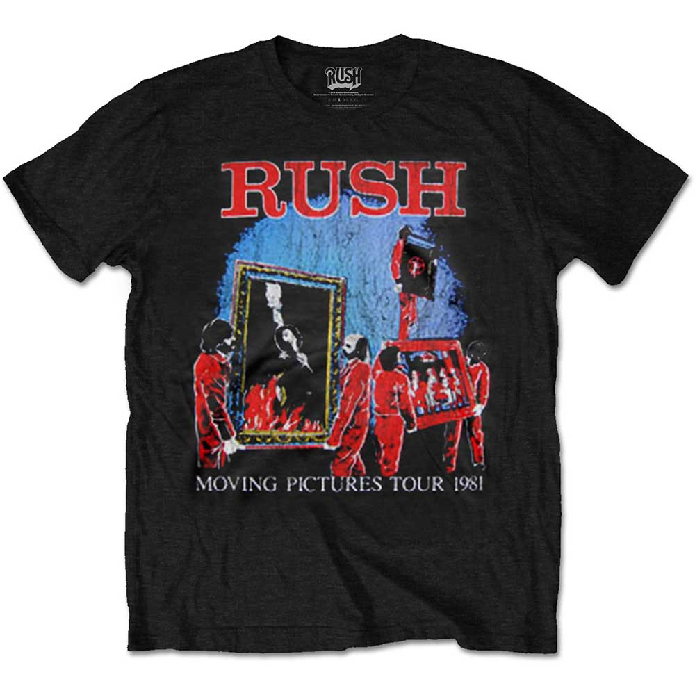 Rush T-shirt Moving Pictures Tour 1981 Mens Small Sparkle Gift