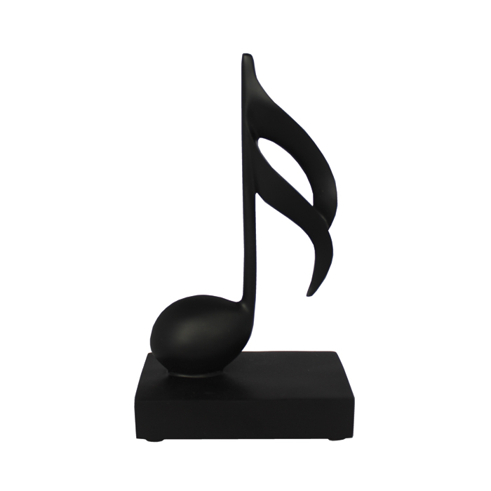 Music Note Ornament 1 Semi Quaver Black                      Sparkle Gift