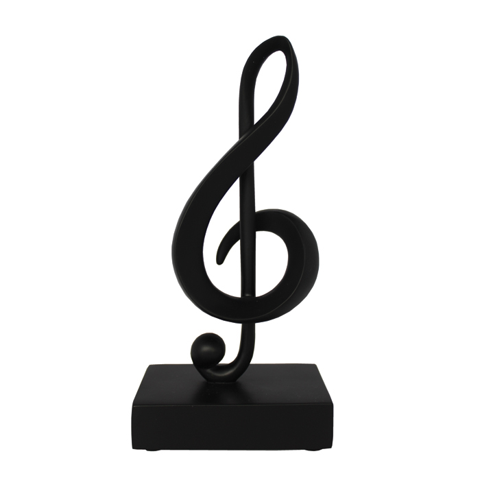 Music Note Ornament Treble Clef Black                        Sparkle Gift