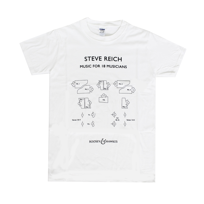 Steve Reich T Shirt Music For 18 Musicians Large Sparkle Gift