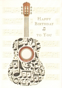 Greetings Card Birthday Guitar Mac Classic Sparkle Gift