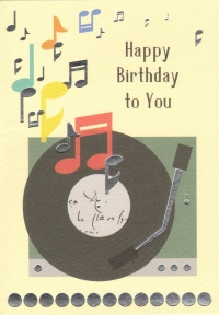 Greetings Card Birthday Record Player Clearwater Sparkle Gift
