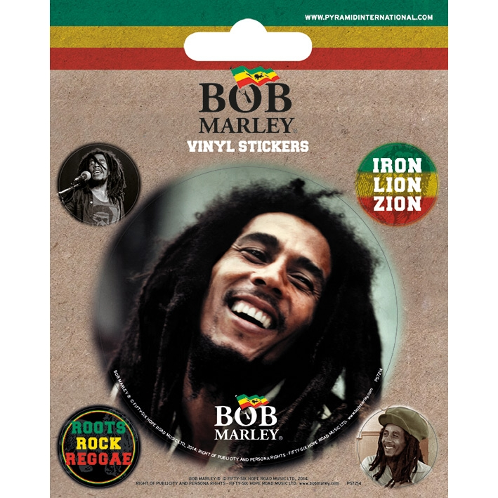 Bob Marley Stickers Sparkle Gift