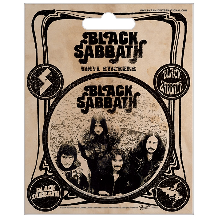 Black Sabbath Stickers Vintage Sparkle Gift