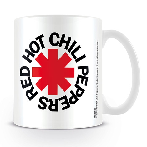 Red Hot Chili Peppers Boxed Mug Logo White Sparkle Gift