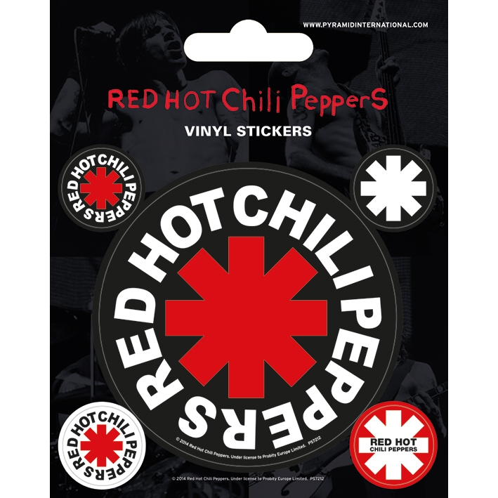 Red Hot Chili Peppers Stickers Asterisks Sparkle Gift