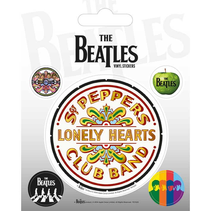 Beatles Stickers Sgt. Pepper Set of 5 Sparkle Gift