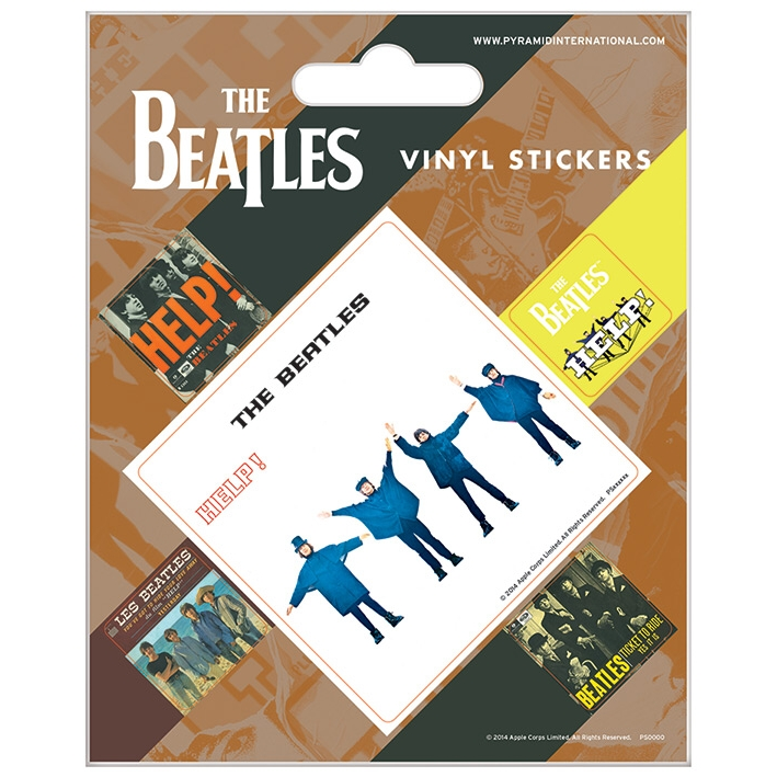 Beatles Stickers Help! Set of 5 Sparkle Gift