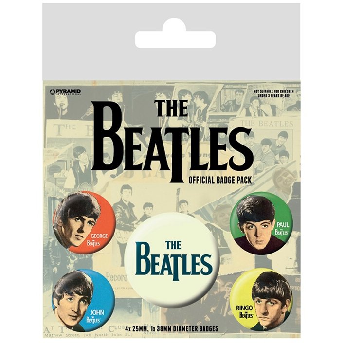 Beatles Badge Pack Band Set of 5 Sparkle Gift