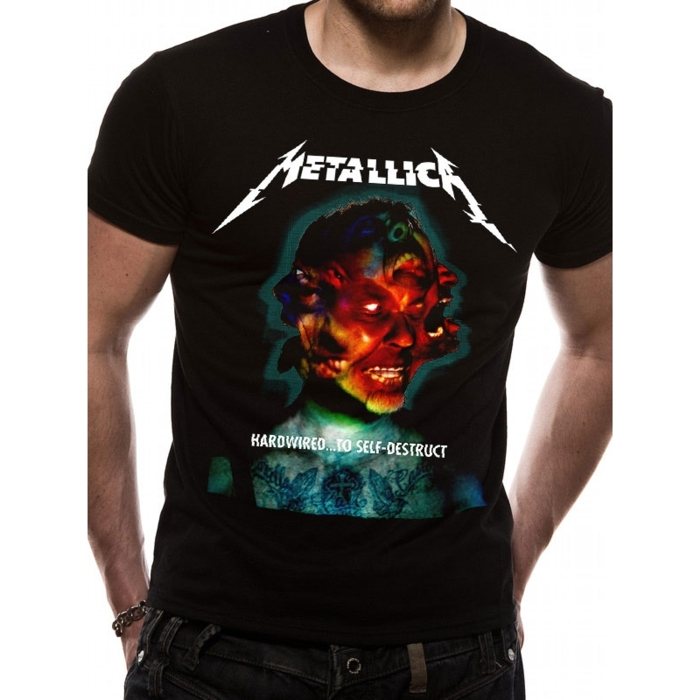 Metallica T Shirt Hardwired... Mens Medium Sparkle Gift