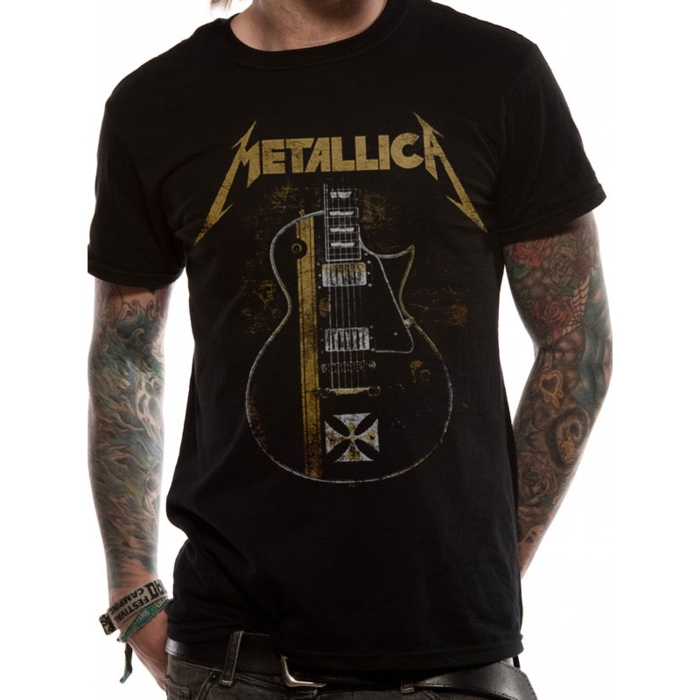 Metallica T Shirt Hetfield Iron Cross Mens Xl Sparkle Gift