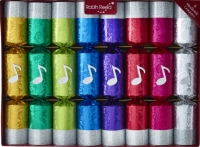 Christmas Crackers (8) Chorus 25cm Sparkle Gift