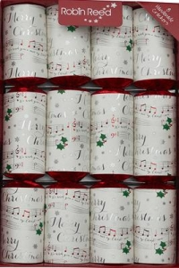 Christmas Crackers (8) Musical Chimes 33cm Sparkle Gift