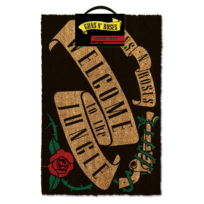 Guns N Roses Doormat Welcome To The Jungle Sparkle Gift