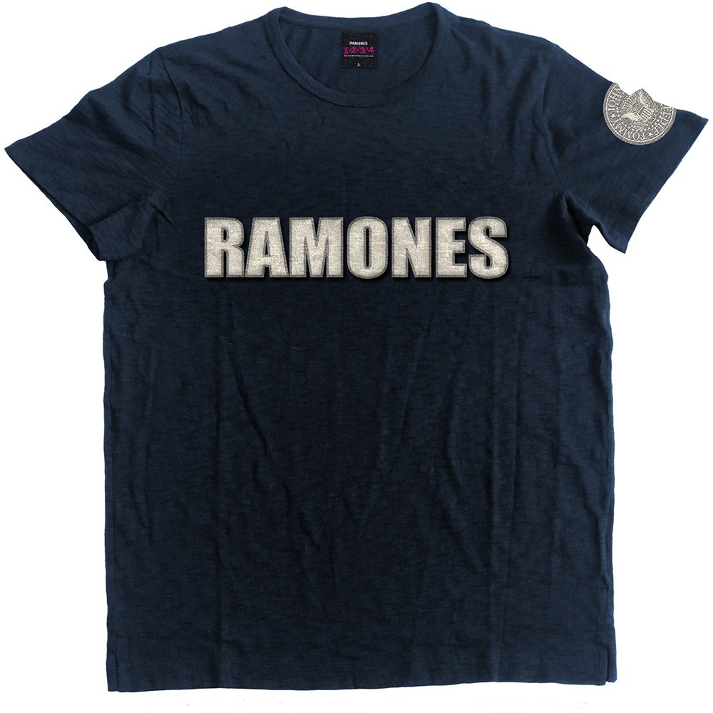 Ramones T Shirt Logo & Seal Mens Small Sparkle Gift