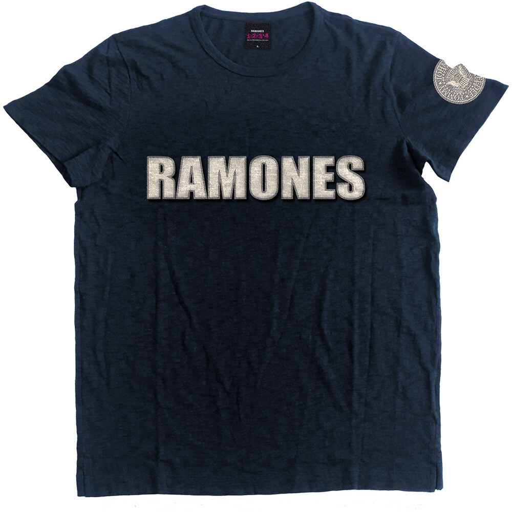 Ramones T Shirt Logo & Seal Mens Extra Large Sparkle Gift