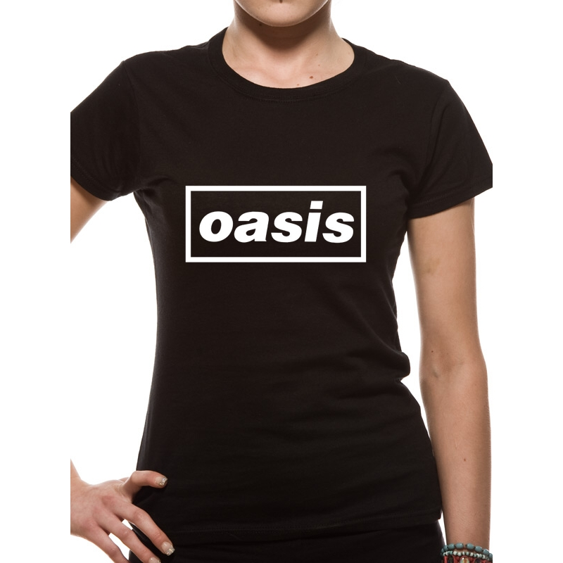 Oasis T Shirt Logo Womens Large Sparkle Gift