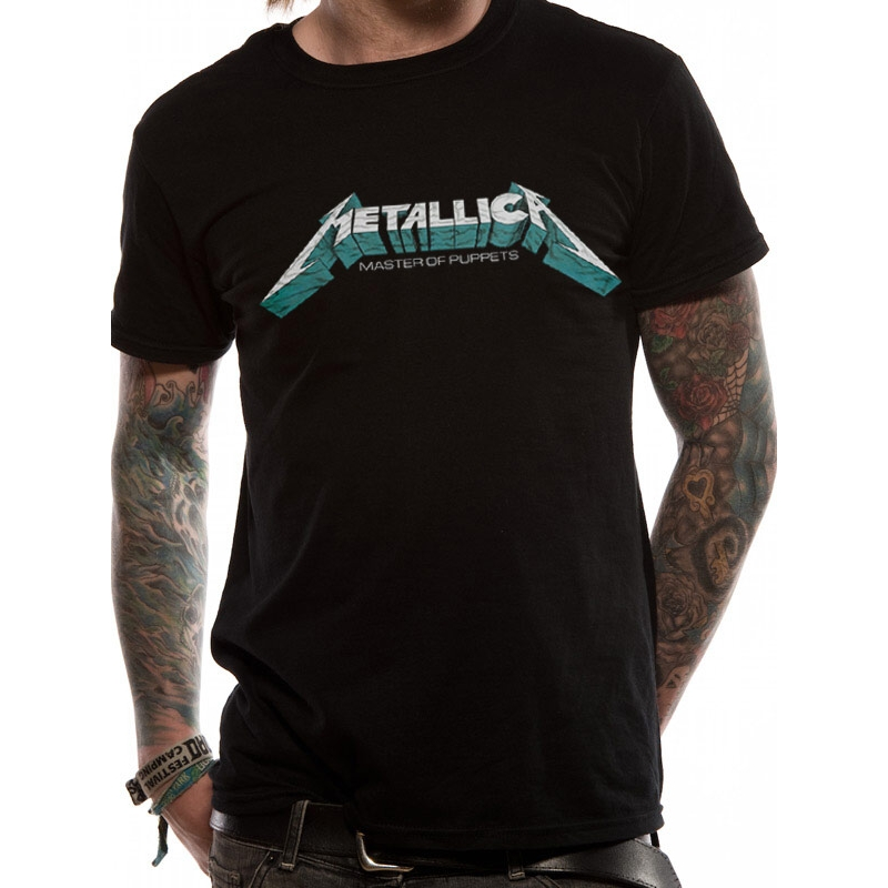 Metallica T Shirt Master of Puppets Mens Large Sparkle Gift