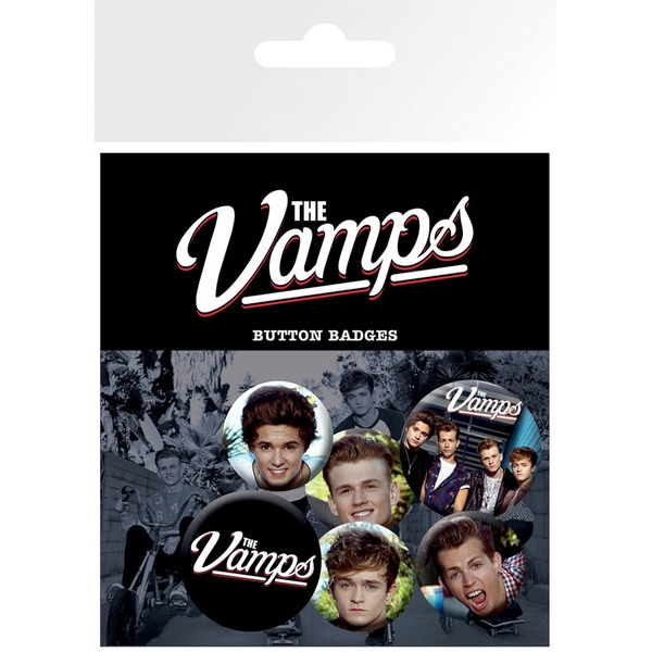 Vamps Badge Pack Mix Set of 6 Sparkle Gift