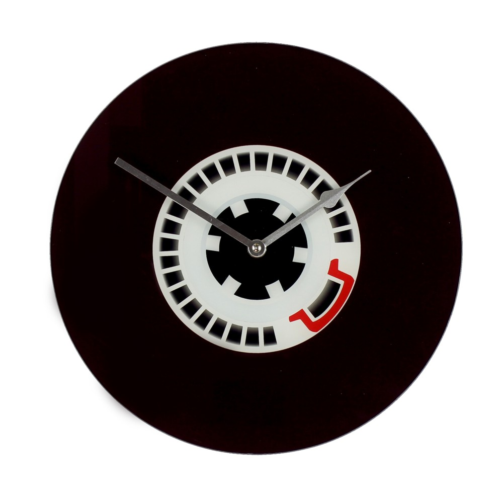 Musicology Glass Wall Clock Cassette Wheel 30cm Sparkle Gift