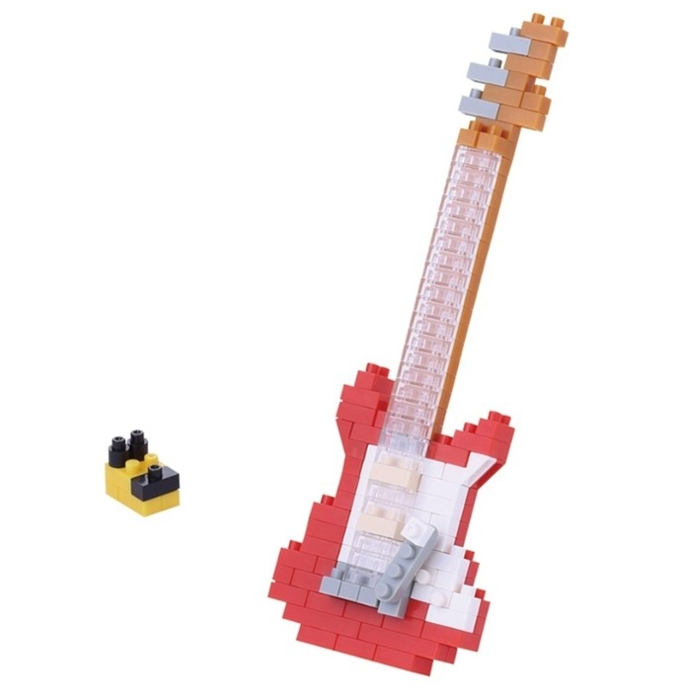Nanoblock Electric Guitar Red Sparkle Gift
