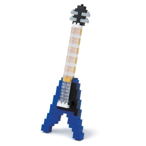 Nanoblock Electric Guitar Blue Sparkle Gift