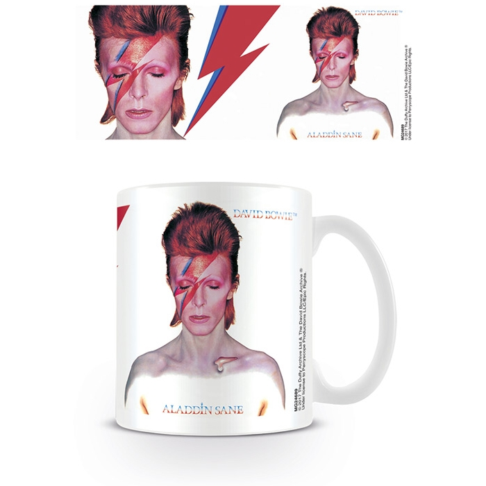 David Bowie Boxed Mug Aladdin Sane Cover & Detail Sparkle Gift