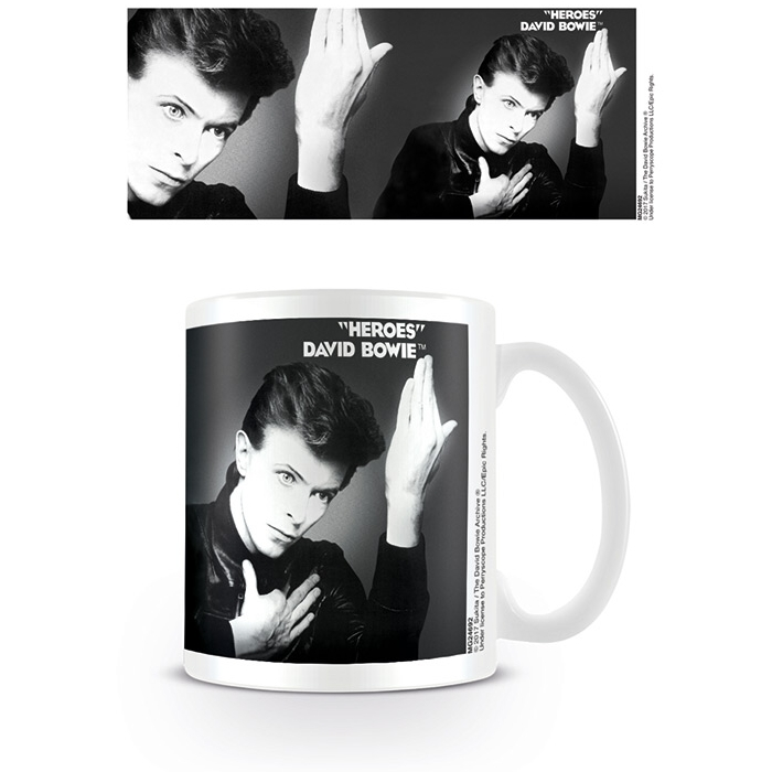 David Bowie Boxed Mug Heroes Cover & Detail Sparkle Gift