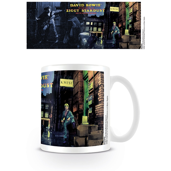 David Bowie Boxed Mug Ziggy Stardust Cover&detail Sparkle Gift